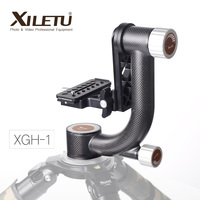 XILETU XGH 1 Pro Heavy Duty Carbon Fiber Gimbal Tripod Head Stabilizer Quick Release Plate for Telephoto Lens photography bird
