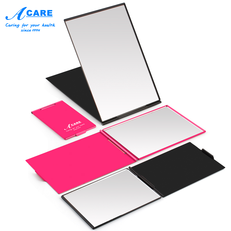 Makeup Mirror Portable Ultra-thin Black Rose Red Make Up Pocket Mirror Cosmetic Rectangle Foldable Foldable Mirrors Small Gifts