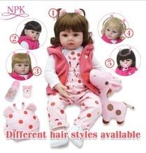 NPKCOLLECTION 48cm boneca reborn 실리콘 reborn baby dolls com corpo de silicone menina 아기 인형 kids 생일 크리스마스 선물