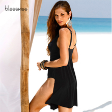 Plus Size Swimwear One Piece Swimsuit 2018 Vintage Swimming Suit For Women Bathing Suit Beach Dress Large Tankini Swimsuit Black