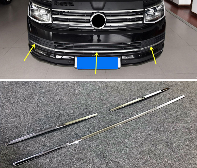 For VW Volkswagen Transporter T6 Caravelle 2017 2018 Car Bottom Center Grille Grill Cover Trim Sticker