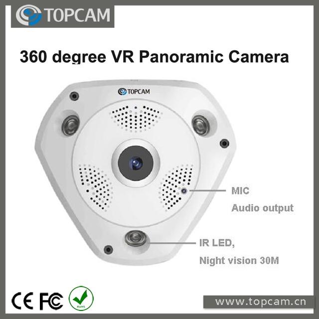 5.0 Megapixel Wifi Draadloze VR Camera Fisheye Lens Panorama View P6 VR 360 graden Panoramisch P2P IP Camera
