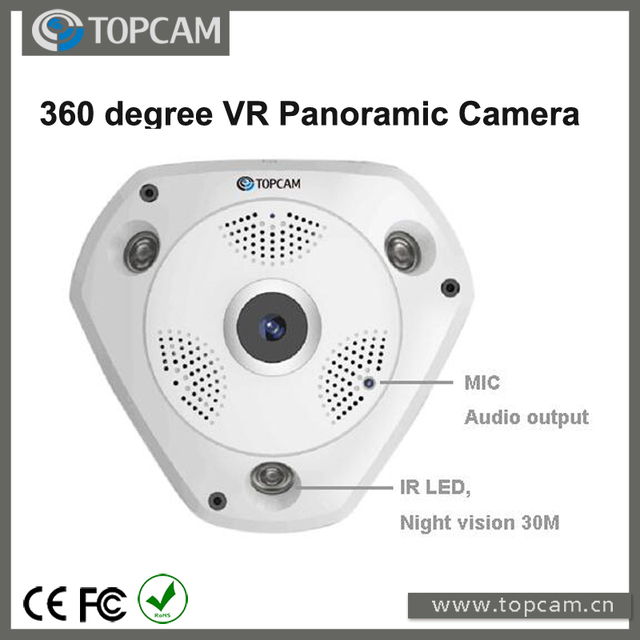 US $79 85 |5 0 Megapixel Wifi Wireless VR Camera Fisheye Lens Panorama View  P6 VR 360 degree Panoramic P2P IP Camera-in Surveillance Cameras from