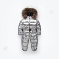 Warm Baby Kids Infant Snowsuit Kid Jumpsuit Children Outerwear Baby Wear fleece Children Winter Jumpsuits Fur Hood Down Rompers