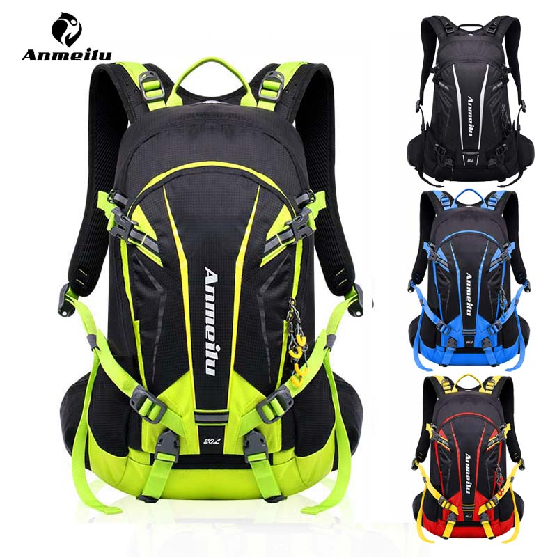 20L Camping Backpack Travel Rucksack Waterproof Outdoor Hiking Cycling Black Bag