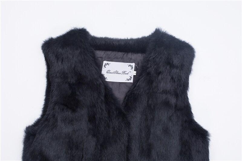 Chalecos Invierno Real gris Genuinas Gratis Caliente negro Chaleco Mujeres Pieles rojo Venta Piezas Animales Envío De Azul Conejo vf514xqw