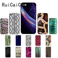 RuiCaiCa Leopard print Snake skin Black TPU Soft Silicone Phone Case Cover for iPhone 8 7 6 6S 6Plus X XS MAX 5 5S SE XR 10(China)