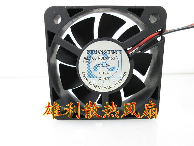 Entrega gratuita. Original 12 V 0.12A RDL5015S 5 CM 5015 2 fios ventilador de refrigeração