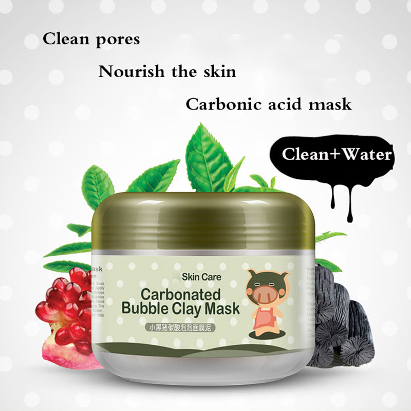 Skin Care Pigskin Collagen Nourishing Mask / Carbonated Bubble Clay Mask 100g fish collagen whitening facial mask powder bulk 800 1000g rejuvenation collagen skin care beauty equipments