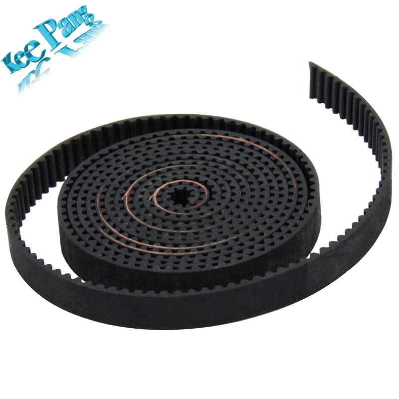 2meter GT2 Open Timing Belt Rubber Width 6mm 3D Printers Parts 2GT Synchronous PU Belts Part Pitch 2mm Black Accessories 2Pitch