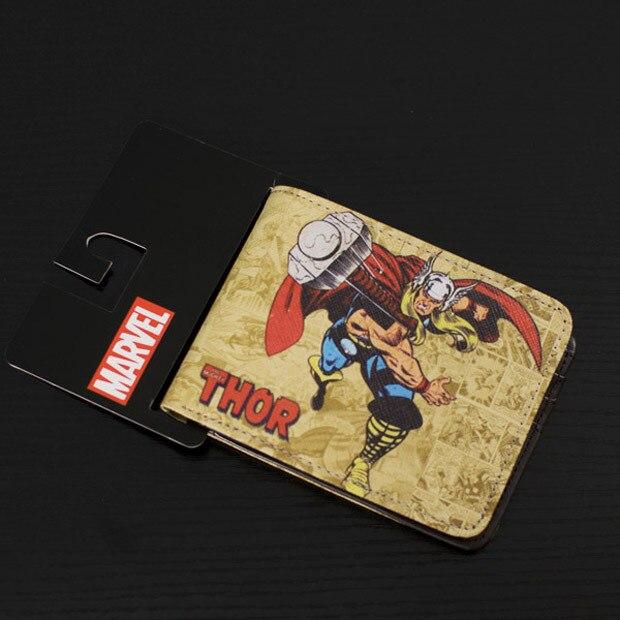 DC Marvel Comics Brand Wallet Men Superhero Thor Cartoon Anime Purse Famous Designer Bags 2015 Male Holiday Gift Wallets comics dc marvel bioworld purse star