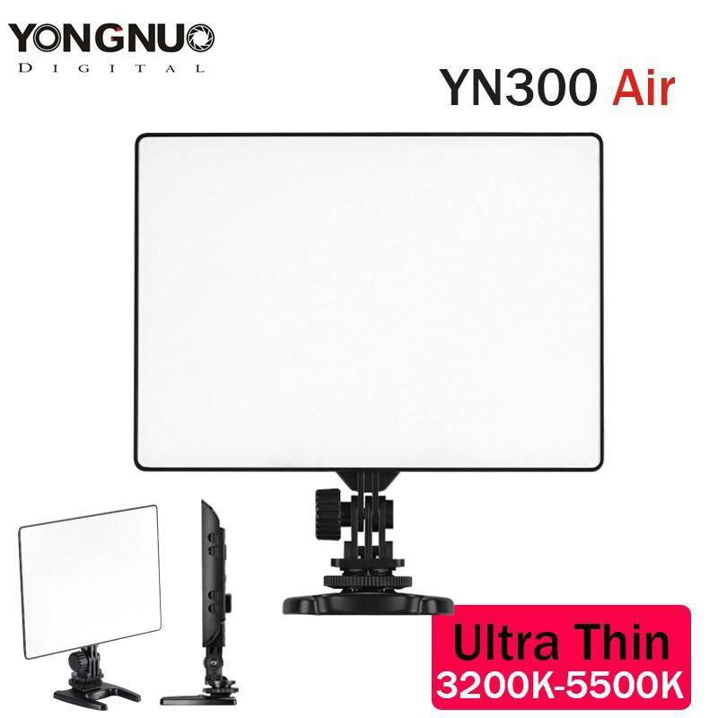 YONGNUO YN-300 YN300 Air Ultra mince sur caméra Led panneau de protection de lumière vidéo pour Canon Nikon Sony Panasonic DSLR caméscope