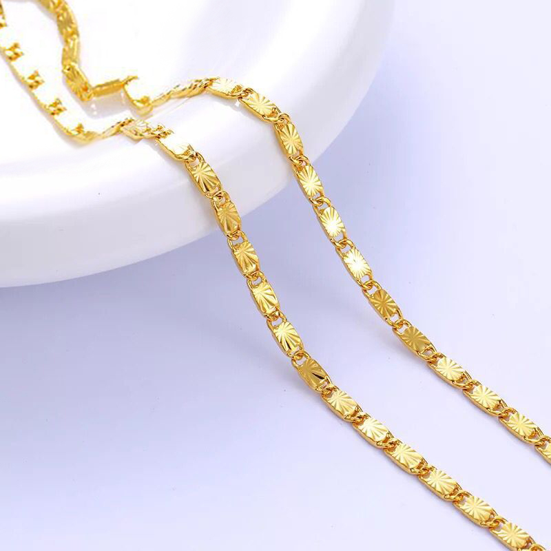 Mxgxfam Necklaces Jewelry Fashion Nickel-Free Pure-Gold-Color Women for 24-K Hot-Buy