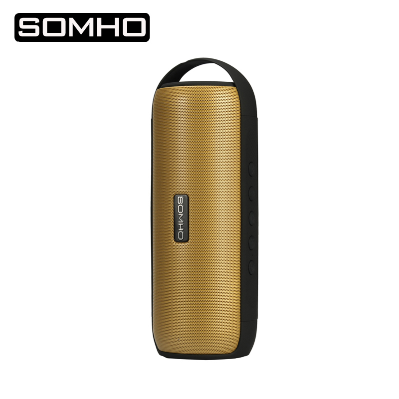 SOMHO S327 Original Waterproof Bluetooth Speaker Mini Hands Free Wireless Speaker Full Bass Sound Portable Speaker With FM Radio portable mini bluetooth speaker bluetooth wireless remote contro l camera shutter release portable am fm radio tf card optional support portable wireless hands free bluetooth multi functional bluetooth stereo led to remind the light for ios andr