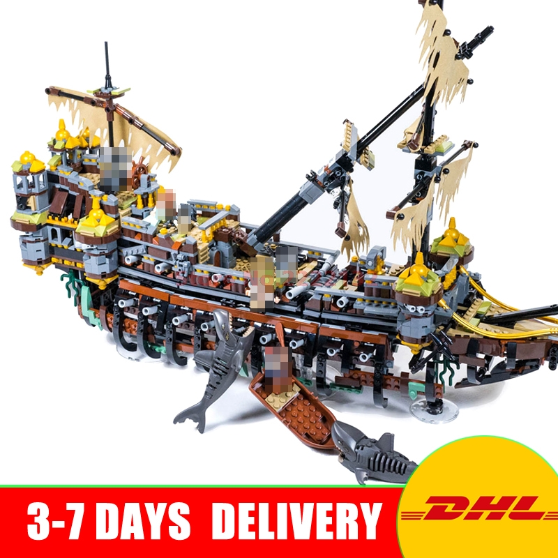 LEPIN 16042 2344Pcs New Pirate Ship Series The Slient Mary Set Children Educational Building Blocks Bricks Toys Model Gift 71042 lepin 16042 pirates of the caribbean ship series the slient mary set children building blocks bricks toys model gift 71042