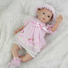 High Quality 22 Inches 55 cm Baby Newborn Dolls Collectible Soft Silicone Reborn Girl Babies With Dress Kids Birthday Xmas Gift