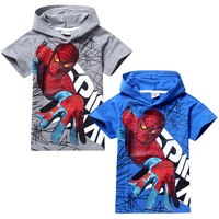 E Babe Wholesale Summer Boys T Shirts Kids Baby Spiderman Spider Man Children Clothes Roupas