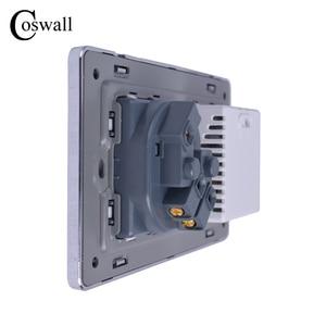 Image 4 - COSWALL Steckdose EU Standard Steckdose Mit Dual USB Smart Induktion Ladung Port Für Mobile 2,1 EINE Kristall Glas panel