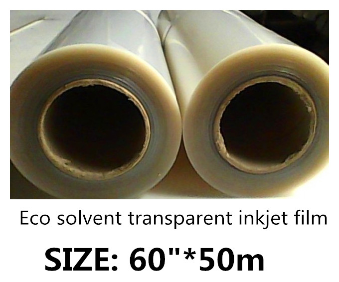 60 50m Waterproof Transparency Eco solvent Inkjet Plate Making Film for Positive Screen Printing 100mic