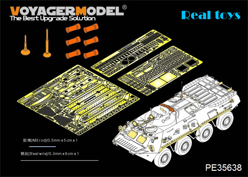 Voyager MODEL 1/35 PE35638 Mordern Russian BTR-80 Basic (smoke Discharger Include) (For TRUMPETER 01594)