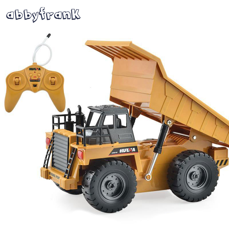rc truck 4 channel farm tractor plough set paratactic double 5 blade rake remote control farm tractor with plough model toy Abbyfrank Electric Remote Control Tipper RC Tractor Toy Model Car Truck Dumper Engineering Vehicles Metal Multi-function