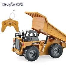 Camión Volquete Volquete RC eléctrico de Control Remoto Modelo De Coche de Juguete de Ingeniería Vehículos de Metal de Múltiples funciones Recargable Regalo para el Cabrito