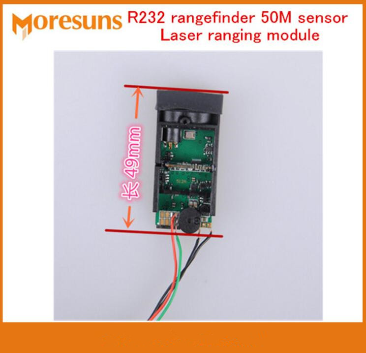 Fast Free Ship Laser ranging module serial port R232 rangefinder 50M sensor TTL level secondary development agreement moduleFast Free Ship Laser ranging module serial port R232 rangefinder 50M sensor TTL level secondary development agreement module