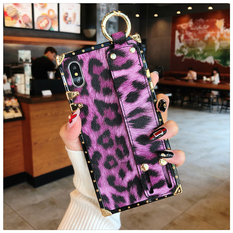 ... Luxury brand Square Leopard print rose flower case for iphone 7 8 6 6s  plus girl ... 8a0e089c3