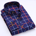Spring Autumn New Flannel Quality Men Plaid Shirts Long Sleeve British Style Fashion Checkered Social Men Casual Shirts