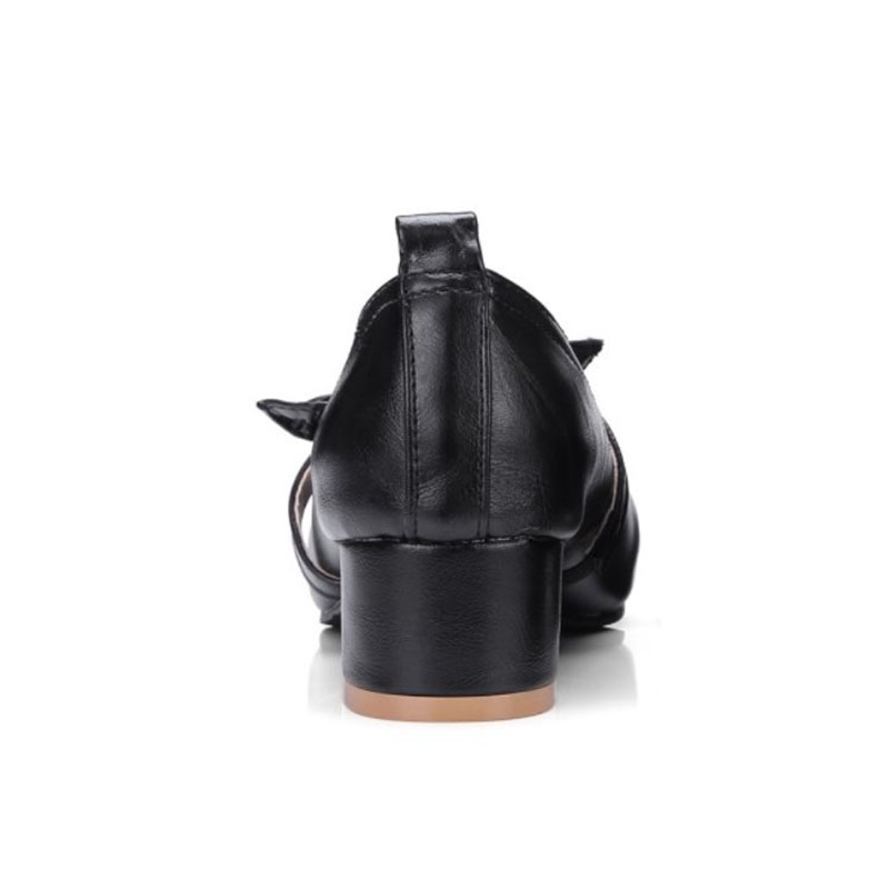Haute Chaussures 48 Quotidiens Taille Talons Lady Noir Bowknot ivoire Partie Pompes Femmes Concis Misakinsa D'été 30 marron Loisirs Office gIxC1