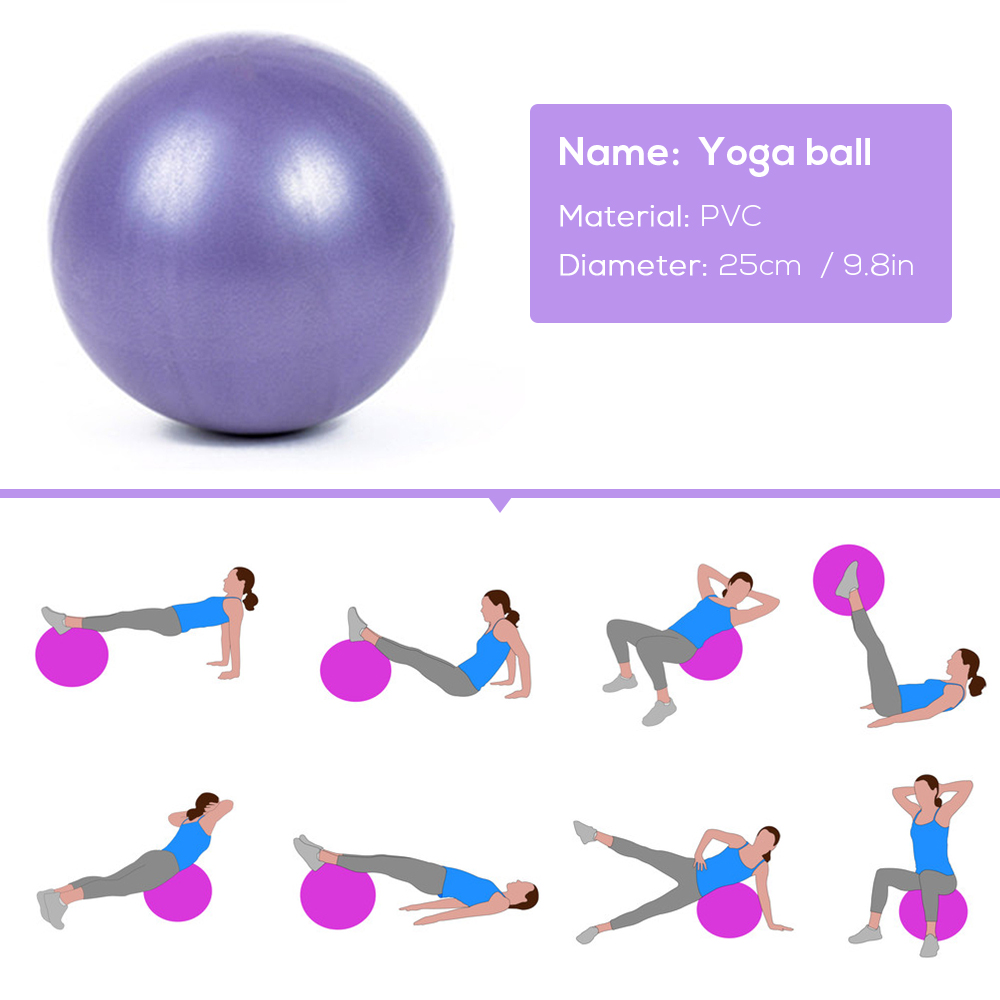 Yoga Ball Set,Include Ball Block Stretching Band Cotton Strap  Resistance Loop Ban 4