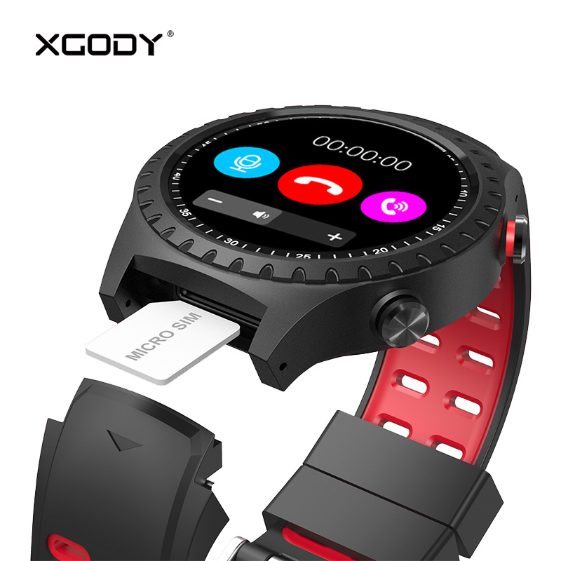 Unlock 2G GSM Phone Call Smart Watch with Sim Card GPS Tracker IP67 Waterproof Smartwatch for Men Bluetooth Heart Rate Mobitor
