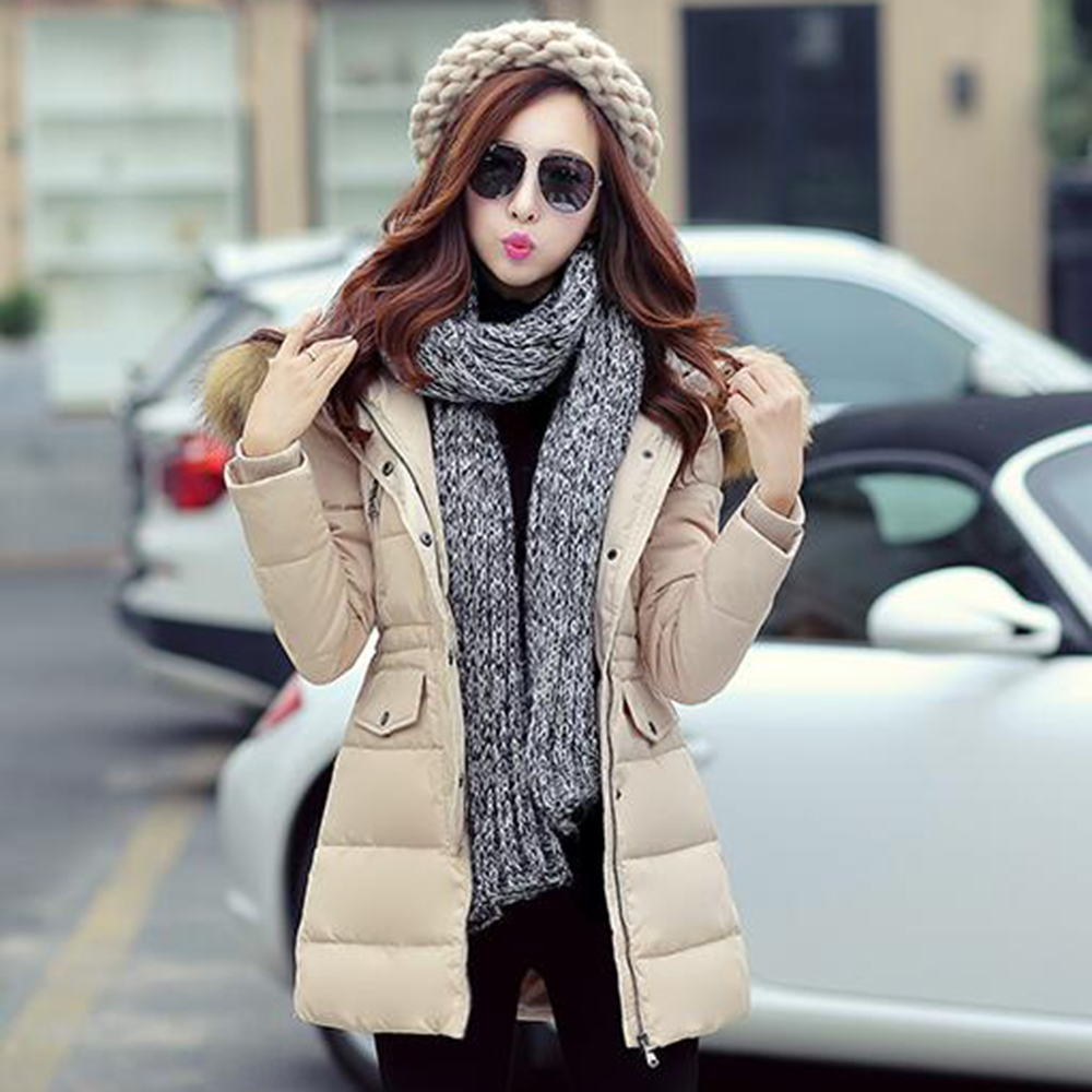 New product 2016 winter Women's Down cotton jacket Fur collar Slim Thick warm coat jacket Female Overcoat Women Outerwear M-3XL