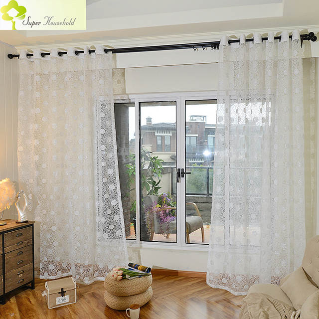 US $6.21 30% OFF|Special Offer Promotion Perspective Cafe Curtains For  Living Room Glisten Tulle Window For Bedroom Children For Sheer Blinds-in  ...
