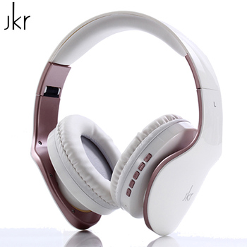 JKR 102B Bluetooth Headphone Wireless Headset Stereo Music with Mic Support TF Card FM Radio and Memory Card Bluetooth Earphones