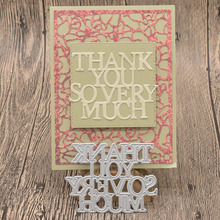 Thank You Words Metal Cutting Dies for Scrapbooking Album Card Making Paper Embossing Die Cuts