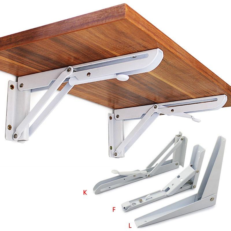 2 Pack 8-20 Zoll Weiß Dreieck Klapp Winkel Halterung Einstellbare Wand Durable Lager Regal Halterung Diy Home Tisch Bank