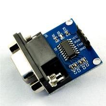 5 pçs/lote MAX232 RS232 Para TTL Converter Module COM Porta Serial MAX232CSE Board MAX3232 DB9 Fêmea Conector