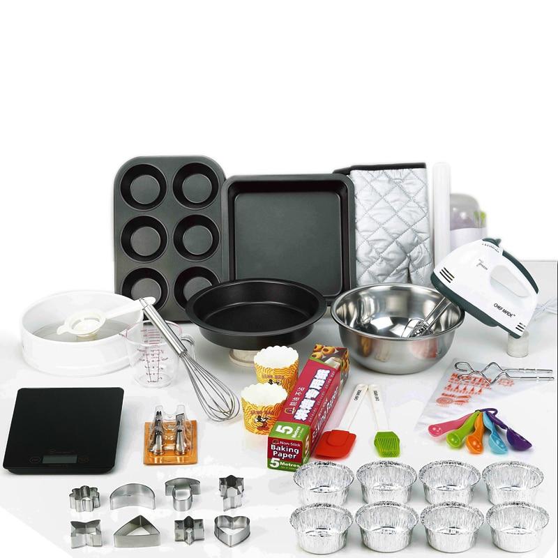 67 PCS/Set Baking tool kits DIY essential tool novice baking cake biscuit Egg Tart package mode 220V Electronic egg beater
