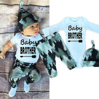 Newborn Infant Baby Boy Girl Clothes 0 18M Long Sleeve Baby Brother Romper Bodysuit Pant Hat