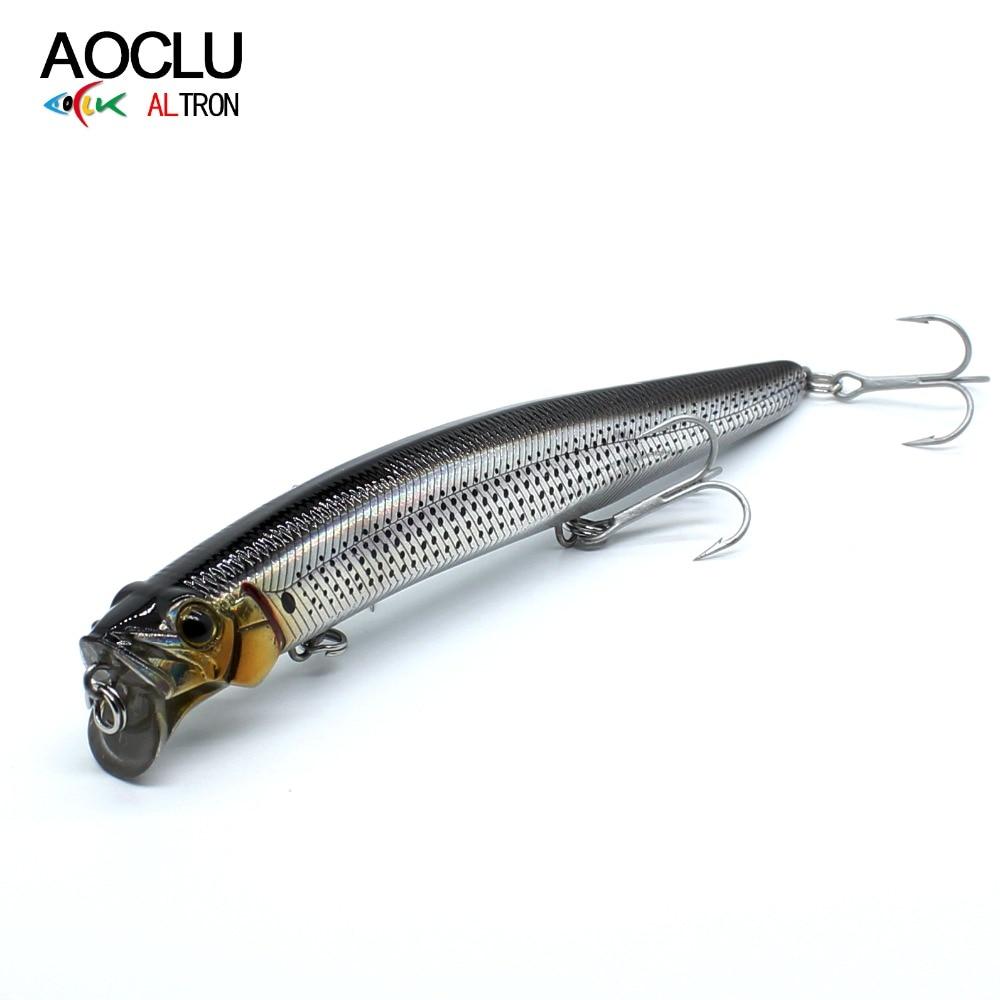 AOCLU Minnow Popper Wobblers Fishing-Lure Hard-Bait Vmc-Hooks 13cm Magnet-Bass with Fresh