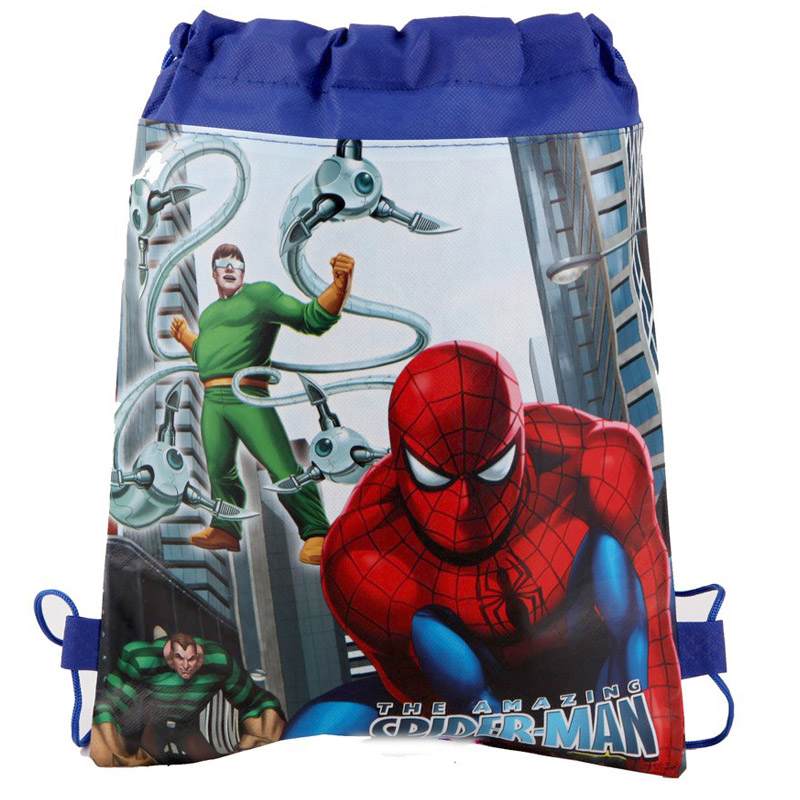 1PC Happy Baby Shower Boys Favors Backpack Spiderman Theme Drawstring Gifts Bags Birthday Party Decorate Mochila Events Supplies1PC Happy Baby Shower Boys Favors Backpack Spiderman Theme Drawstring Gifts Bags Birthday Party Decorate Mochila Events Supplies