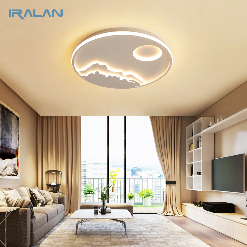 . US  264 5 50  OFF IRALAN LED Ceiling Light Modern Nature Sunrise design  Living Room Bedroom Kitchen dining room Lighting Fixture ICFW1910 in  Ceiling