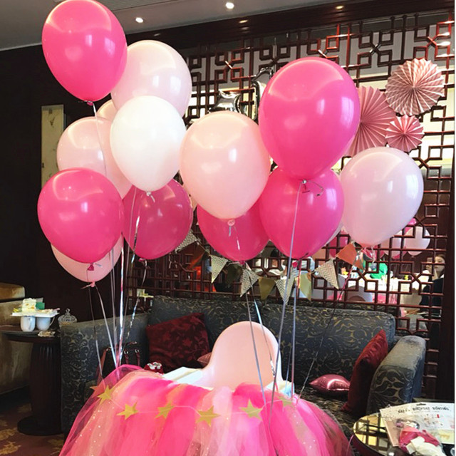 Wedding Pink Balloons Birthday Party Decorations Kids Adult Ballon Baby Shower Boy Helium Balloon Supplies 30Pcs 22g