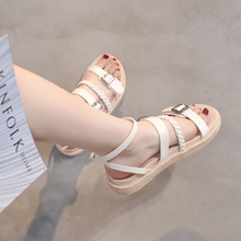 2019 Gladiator Women Sandals Platform Flat Sandals White/Pink/Black Spring/Summer Female Shoes Casual Lady Shoes Woman Footwear цена и фото