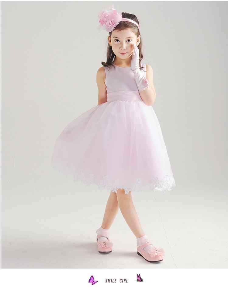 ... HOT White Pink New Design Girls Dress Party Wear Vestidos Formal Big  Bowknot On Back For ... 13db3146f