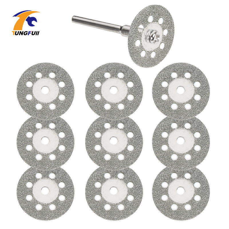 Tungfull 5x 22mm Dremel Accessories Diamond Discs Metalworking Circular Saw Cutting Disc For Engraver Electric Mini Drill