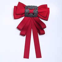 b9c7c1023e0 New fashion Women Bow Brooches Pins Canvas Fabric Bowknot Tie Necktie  Corsage Brooch for Women Clothing Dress Accessories-005