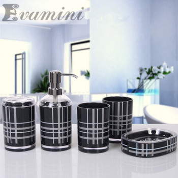 hot sale European style bathroom suite shukoubei five piece British wedding gifts housewarming acrylic bathroom Unique products