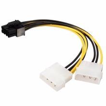 18 см 8Pin к двойной 4Pin видеокарта шнур питания Y Форма 8 Pin PCI Express двойной 4 Pin Molex Мощность видеокарты кабель #280903